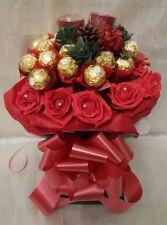 Christmas Ferrero Rocher Red Chocolate Bouquet & Yankee Candles  - Gift hamper