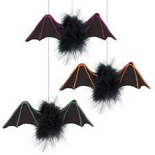 3 Assorted Halloween Party Furry Friends Hanging Vampire Bats Decorations