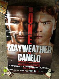 2013 Floyd Mayweather Vs.Canelo Alvarez Fight The One Poster Golden Boy 24x36