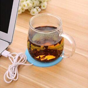 USB Heater Coffee Tea Cup Warmer Mug Pad Mat Home Office Milk Drink Heat Plate