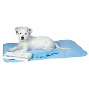 Trixie Puppy Dog Set with Blanket, Plush Toy and Microfibre Towel - Fleece, Blue