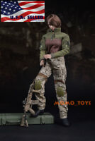 "1/6 Tactical Military Combat Suit Set 12"" For Phicen Hot Toys Female Figure USA"