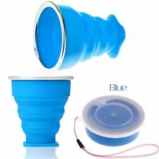 Folding Water Telescopic Camping Coffee Tea Collapsible Cup Travel Silicone