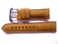 - 24mm Watch Strap Band with buckle - 24/22mm Asso Leather Panerai Style