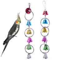 Bird Bell Chew Parrot Ringer Hanging Swing Cage Cockatiel Parakeet Fancy Be G4S7