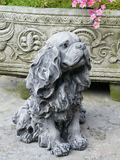 KING CHARLES Hand Cast Stone Garden Ornament Dog Statue Memorial ⧫onefold-uk