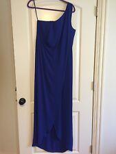 Women's long royal blue BCBG one shoulder dress size 10