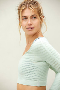 NEW Free People Movement Seamless ECONYL Long Sleeve Mint Made In Italy | FF-028