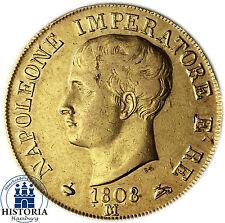 Italie 40 LIRES OR 1808 (SS) Pièce d'or uni Napoléon