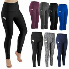 Womens High Waist Yoga Leggings Compression Fitness Gym Workout Pants Pockets S1