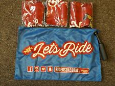 Lot of 4 Frisco RoughRiders Rally Flags Swinging Teddy Rangers Aa Minor League