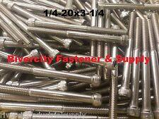 "(10) 1/4-20x3-1/4 Socket Allen Head Cap Screw Stainless Steel 1/4 x 3.25"""