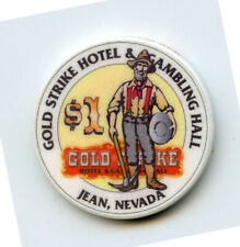 1.00 Casino Chip from the Gold Strike Casino Jean Nevada