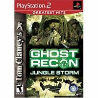 Tom Clancy's Ghost Recon Jungle Storm For PlayStation 2 PS2 Very Good 3E
