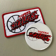 Vintage Topeka Sizzlers Basketball Team Patch and Pinback Button