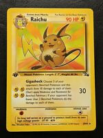 Pokemon Card - Fossil Set Raichu 1st Edition Rare 29/62 - Mint condition