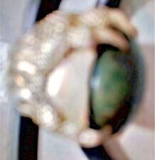 Large Natural Pirus Alpaka Ring (Turquoise Indonesia)