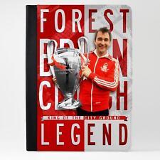 Clough Nottingham Bosque Funda Cubierta De Cuero Tablet iPad fútbol Legend LG84