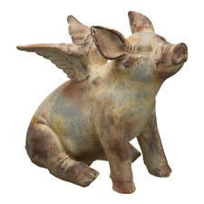 11inch Flying Pig Statue Sculpture Garden Lawn Yard Patio Decoration Outdoor New