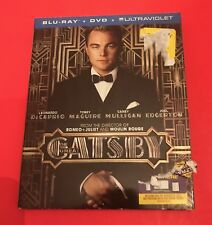 The Great Gatsby (Blu-ray/DVD, 2013, 2-Disc Set, Includes Digital Copy) NEW