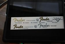 4 Fender Stratocaster and Telecaster Decals all waterslide + 1 custom shop decal