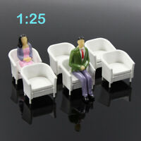 6pcs Model Train Railway 1:25 G Scale Leisure Chair Settee Bench Scenery Layout