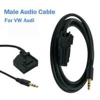 60cm Male Radio Cable Adapter AUX Audio Input Interface 3.5mm For Audi VW Skoda