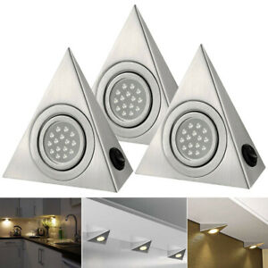 LED Triangle Light Kitchen Under Cabinet Cupboard Shelf Counter Downlight Lights