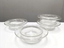 Heller L&M Vignelli 4 Ramekins Small Casseroles Glass Bakeware Mid Century