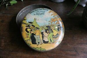 Ancienne boite de sucres d'orges en métal Royat Vichy diamètre 13,8cm