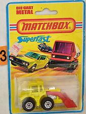Matchbox Superfast No. 29 Trattore Pala Enngland Bad Carta