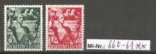 Deutsches Reich Mi-Nr.: 660-61 Machtergreifung 1938 sauber postfrischer Satz