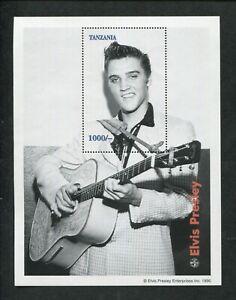 1996 Tanzania Commemorative Souvenir Stamp Sheet - Elvis Presley