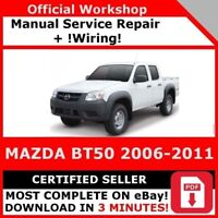 FACTORY WORKSHOP SERVICE REPAIR MANUAL MAZDA BT50 2006-2011 +WIRING