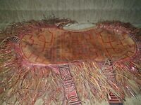 Old African Tuareg Leather Pillow - Mauritania -- Rare outstanding piece