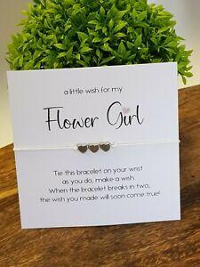 Bridesmaid - Maid Honour - Flower Girl - Thank you bracelet - Wish Bracelet