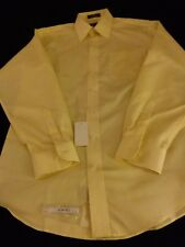 Men's Damon Long Sleeve Dobby Easy Care Dress Shirt Size 16 34-35 New With Tag