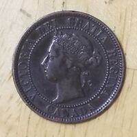 Canada 1900 No Mint Mark One Cent F Check It Out!!  KM# 7  #AA150