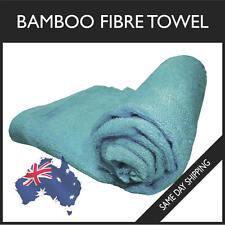 100% Bamboo Fibre Baby Towel Silky Soft Kids Clean Fiber Burp Cloth Blue 70x30cm