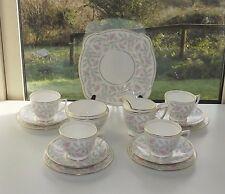Minton Bone China Petunia 15 PC Cups Saucers Plates Milk Sugar Cake 1950s