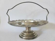 Silver Plated Tray, English Serving Basket, Exhibit EPNS Platter with Handle