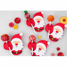 50pcs Mini Lollypop Santa Claus Penguin Lollipop Sticks Christmas Decor