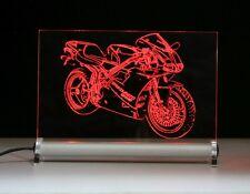 DUCATI 916 come incisione su LED INSEGNA LUMINOSA DISPLAY MOTO BIKE MOTO