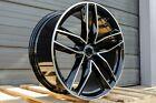 18X8 +35 5X112 BLACK RS STYLE WHEELS FITS AUDI TT Q3 A4 A5 S4 S5 Sedan Premium