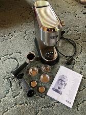 DeLonghi EC 685.m Dedica Espresso-Maschine 1350W - Silber + Zubehör