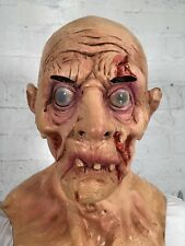 Old Man Bloody Zombie Mask Latex Halloween Horror Fancy Dress Costume Masks