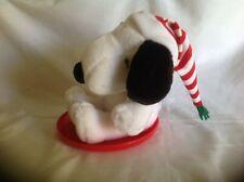 Hallmark Peanuts Snoopy Christmas Sleigh/Disc Riding StuffedToy Animal
