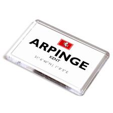 FRIDGE MAGNET - Arpinge, Kent - Lat/Long TR1939