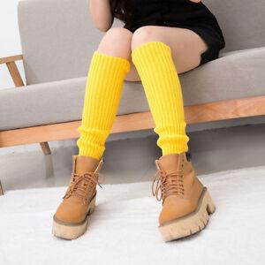 Long Winter Warm Leg Warmers Socks Soft Wool Knitted Hollow Socks Women MP