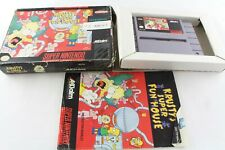 Snes Super Nintendo Simpsons Krusty's Fun House US Game NTSC Boxed Complete